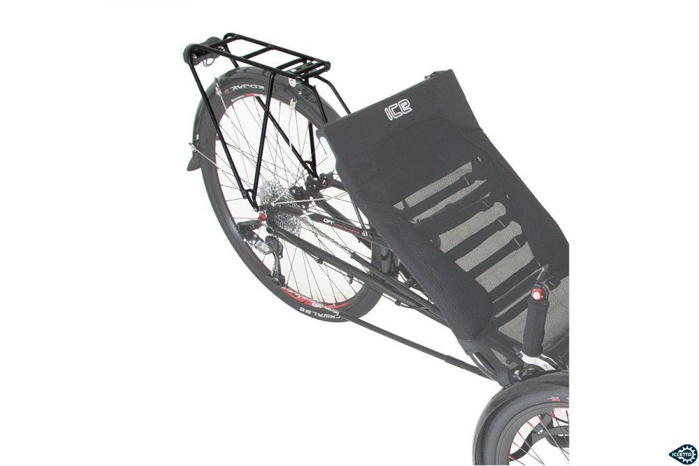 Rear rack for ICE trikes without rear suspension
