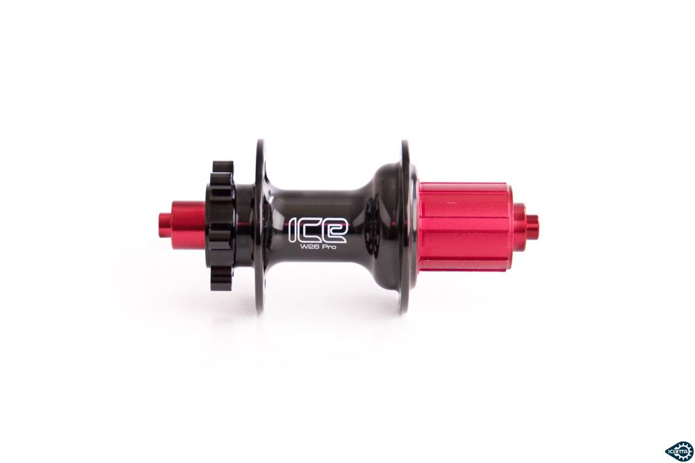 Rear hub ICE for disc brake (IS) black 10speed 36 hole 135mm