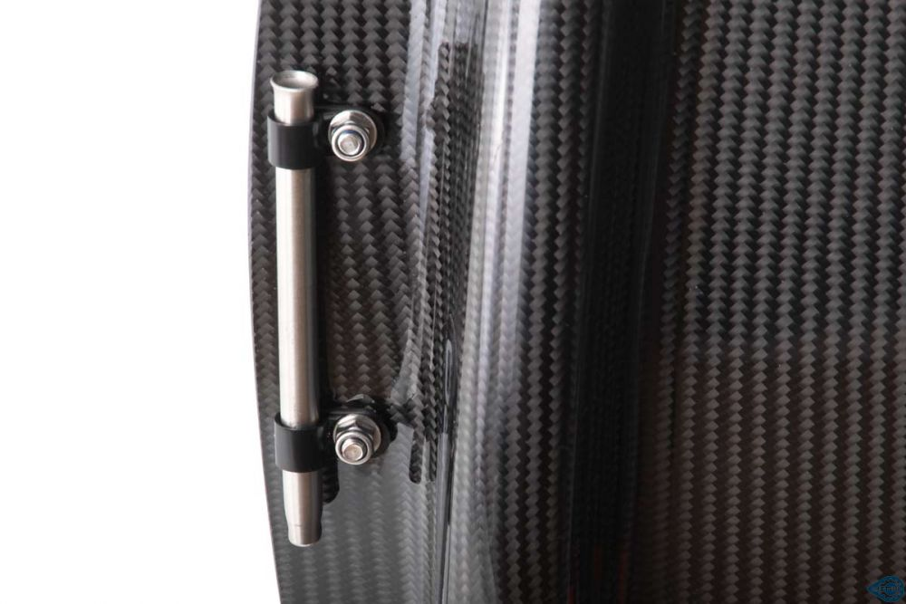 Integrated flag holder on the ICE Air Pro hardshell seat carbon fibre
