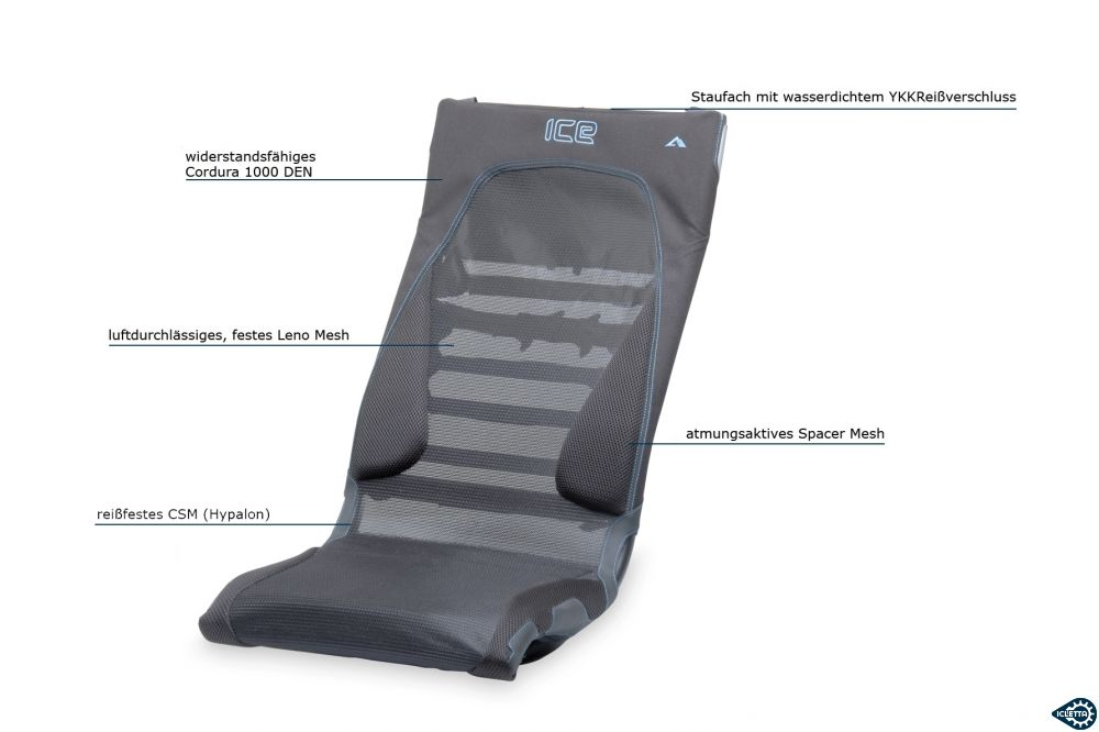 Seat cover ICE Ergo Flow for Mesh Seat