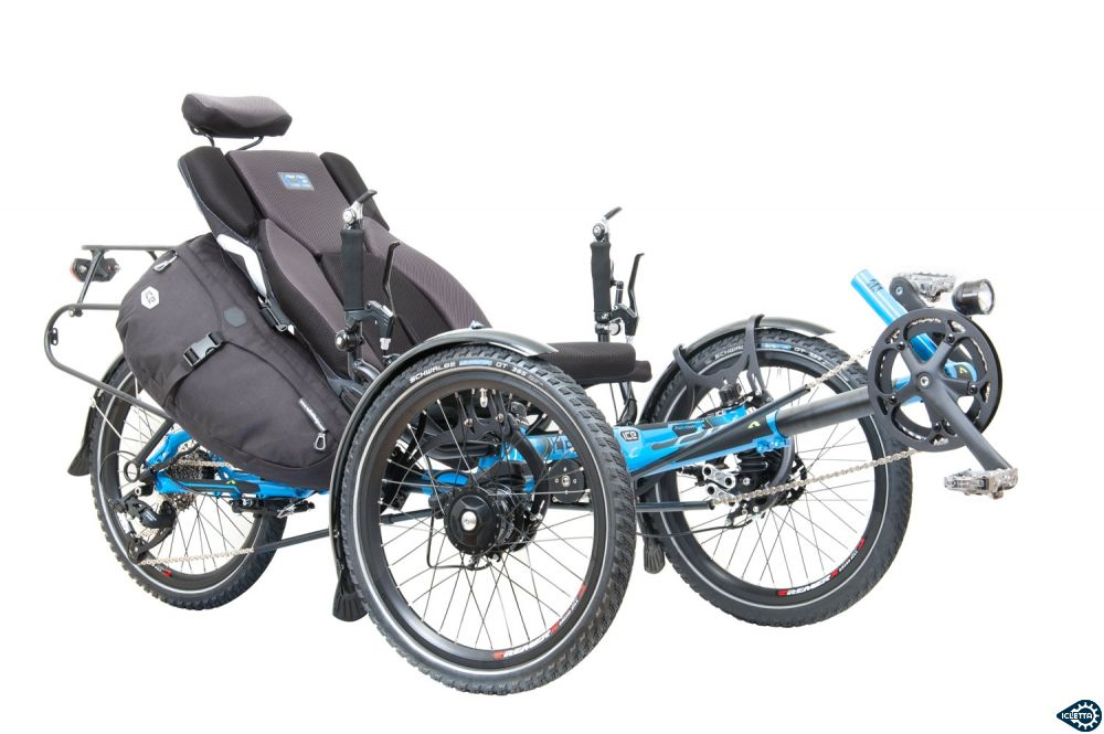 Recumbent bags Radical Allfa side panniers for ICE Sprint X, ICE Adventure, ICE Adventure HD and ICE FULL FAT