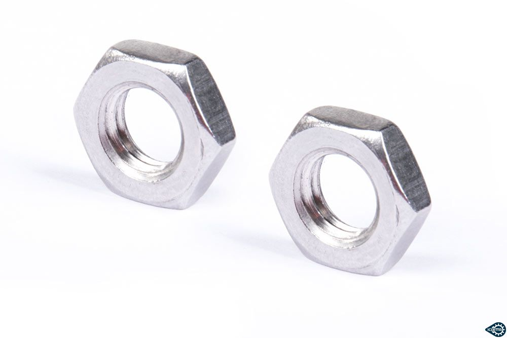 Counter nut M8 for steering rod ball joints left and right hand thread pair