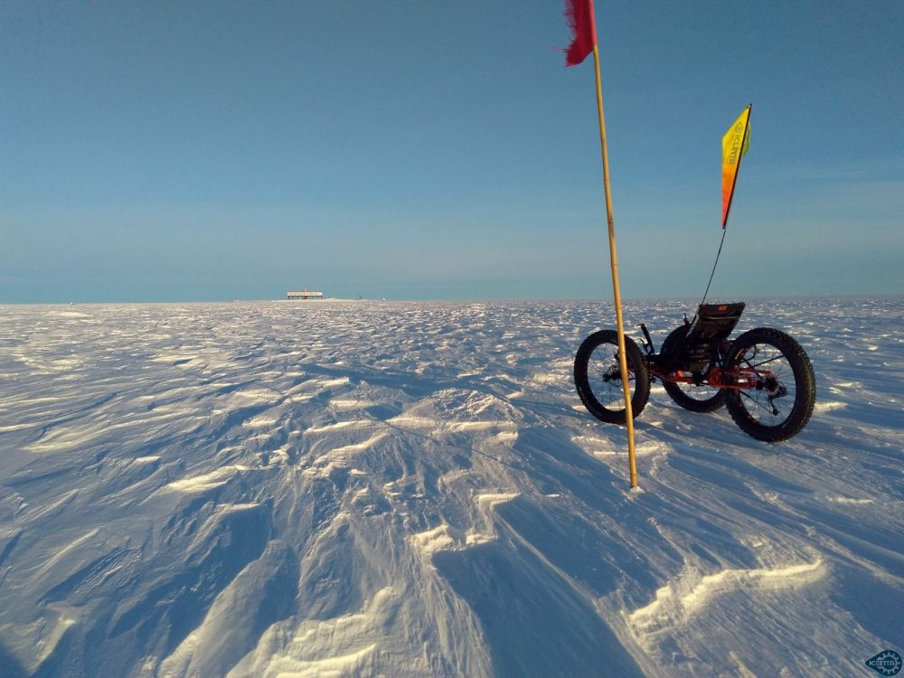 Purple Sky Flag - In action at the southpole