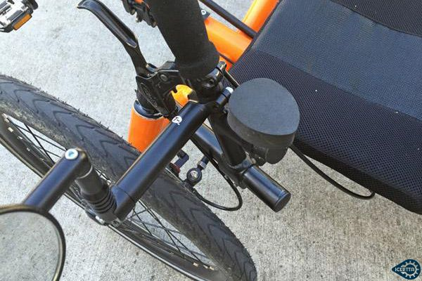 Accessory Mount TerraCycle for handlebar mount with double clamp and wedge clamp, aluminium