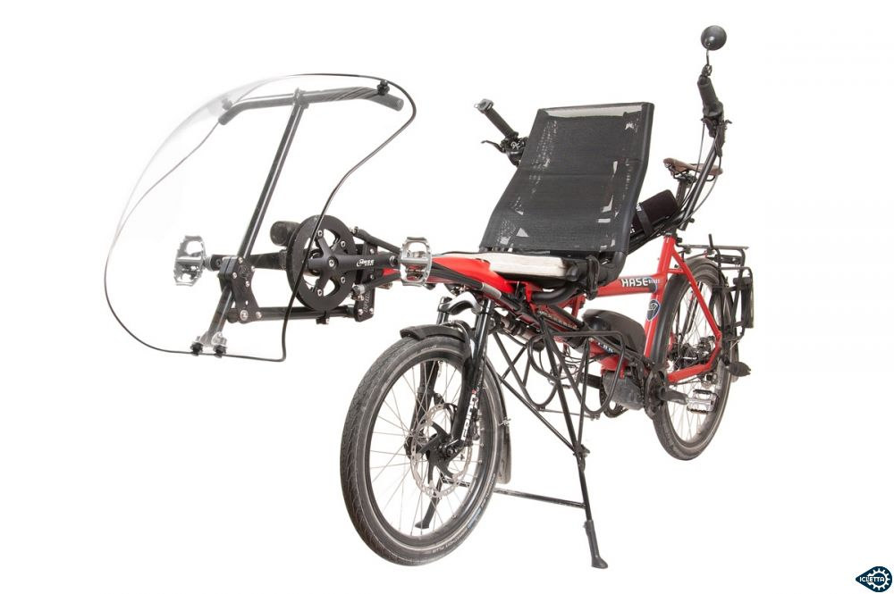 Fairing Windwrap XT TerraCycle with SPRING Mount on Hase Pino recumbent
